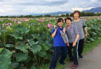 安曇野市の蓮畑を見に行きました(^O^)
